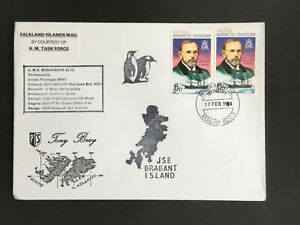 BRITISH ANTARCTIC TERRTY 1984 HMS ENDURANCE CACHET ON BRABANT ISLAND X/D COVER