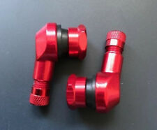 SUZUKI GSX600 F KATANA 1988-2002 RED 90 DEGREE ALUMINIUM TYRE VALVE STEMS PAIR