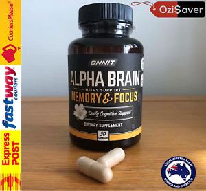 ⭐ ONNIT Alpha BRAIN 30 Caps Joe Rogan JRE Nootropic Alpha GPC Huperzine Bacopa