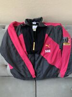 """Puma x Helly Hansen """"Tailored For Sport"""" Track Jacket Bright Rose 597144-15 Sz M"""