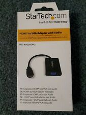 Stec-Hd2Vgaa2-Hdmi to Vga Video Adapter Converter with Audio for Pc / Laptop