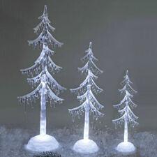 Dekobaum Acryl mit LED-Licht Weihnachtsbaum Schneedekor Weihnachtsdeko formano