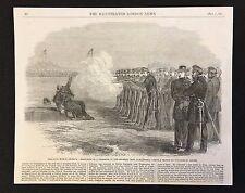 1862 Original  Newspaper Print, USA Civil War, Execution of Deserter, Alexandria