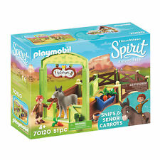 Playmobil 70120 Spirit Snips & Senor Carrots with Horse Stall Play Set, Age 4+