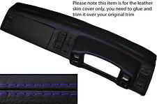 Púrpura Stitch Dash Dashboard Leather Skin Tapa se ajusta Vw Scirocco Mk2 1981-1992