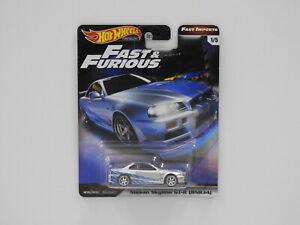 "1:64 Nissan Skyline GT-R (BNR34) - Hot Wheels Premium ""Fast & Furious"" Hot Wheel"