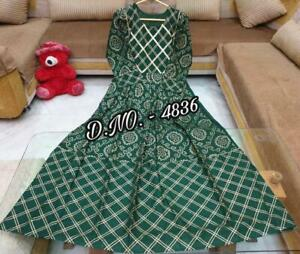 Anarkali Kurta Kurti Indian Designer Women Dress Ethnic Pakistani Gown Top Tunic