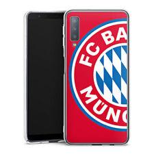 Samsung Galaxy A7 (2018) Handyhülle Case Hülle großes FC Bayern München Logo Rot