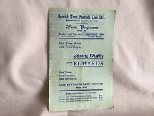 More details for ipswich town fc v mansfield town rare match programme 1947 7th april well used.