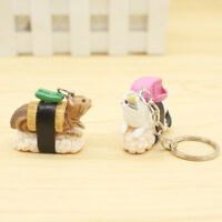 1pc Cat and Sushi Men's Keychain Car Keyring Silverware Random Color New