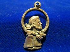 Figural St Francis Medal Silvertone