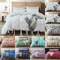 Home Comfy Quilt Duvet Cover Soft Twin Queen King Size Bedding Pillowcase Set
