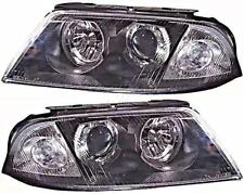 Headlights Crystal Clear Black Pair For VW Passat B5.5 00-05