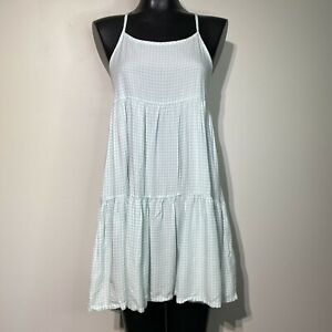 small xhilaration green gingham babydoll chemise sleepwear dress