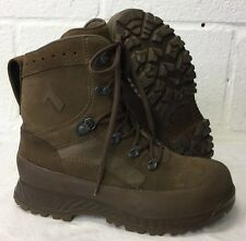 HAIX BROWN SUEDE DESERT HIGH LIABILITY COMBAT BOOTS -  8 Wide , British Military