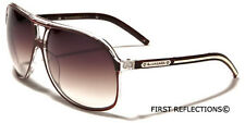 Biohazard Aviator Retro 80's Men's Women's Designer Sunglasses Black White Brown