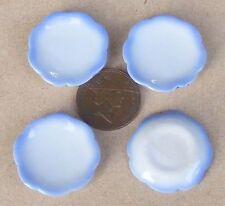1:12 Scale 4 x Blue & White Plates Dolls House Miniature Ceramic Accessories B10