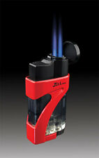 JetLine Phantom Dual Twin Jet Torch Cigar Lighter - Red - New