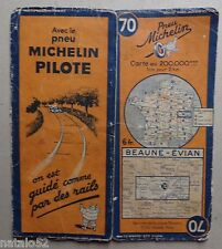 #) B - carte MICHELIN 70 BEAUNE - EVIAN 1939
