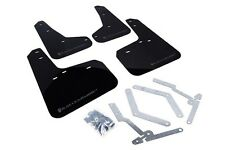 Rally Armor Mud Flaps Guards for 12-16 Focus ST SE RS Hatch (Black w/Grey Logo)