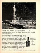 1968 Jack Daniels Statue Planters Hat Frock Coat Vest Tennessee Whiskey Print Ad