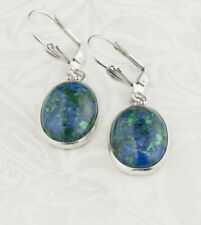 Sterling silver 925 earrings + natural Eilat stone Israel ! Gift Jewelry & Love