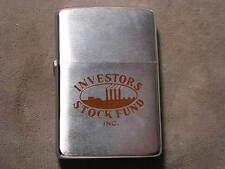 Vintage Zippo Lighter 1968 Advertising Investors Stock Fund Inc, MIB