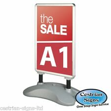 A Board - Pavement Forecourt Sign - A1 Waterbased poster display stand