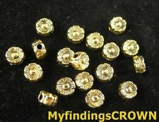 200PCS Antiqued gold lined flower spacer beads 6mm FC277