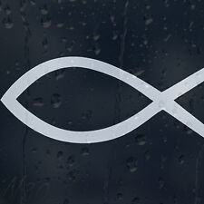 Ichthys Fish Christian Symbol Car Or Laptop Decal Vinyl Sticker For Window Panel