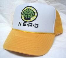NEW NERD NEPTUNES TRUCKER HAT CAP yellow Mesh back Hat adjustable