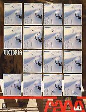 Snowboard Poster~Victoria Jealouse Original Burton 2 Sided Oop Signed Bio. New~