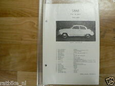 SA02-SAAB TYPE 96 SPORT 1963-1964 -TECHNICAL INFORMATIO