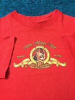 1980s Vtg MGM Metro Goldwyn Mayer Trademark LION Film Studio T-Shirt Promotional