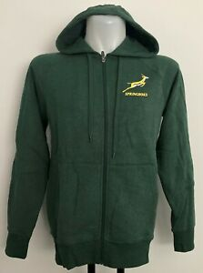 SOUTH AFRICA SPRINGBOKS FULL ZIP HOODIE BY ASICS SIZE MEN'S LARGE BRAND NEW