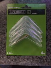 NEW Everbilt Clear Corner Bumper With Adhesive Protector Guards 4 pack 2 3/4""