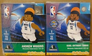 KARL-ANTHONY TOWNS & ANDREW WIGGINS MINNESOTA TIMBERWOLVES MINIFIGURES 🏀