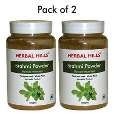 Herbal Hills Brahmi Powder - 100gms x  Pack of 2