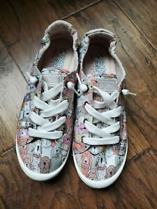 BOBS From Skechers Beach Bingo-Dog House Party Lace Up Fashion Sneakers Size 7.5