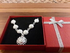 Brand new silver  spikey Necklace and gift box