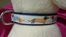 "SALE Designer Dachshund Dog collar 8.5"" - 11.5"" neck new and tagged."