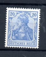 German Empire 1902 20pf blue (no WMK) mint MH #72 WS21875