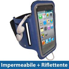 Blu Fascia Braccio per Apple iPod Touch 2G 3G 4G Armband Sport Corsa Fitness