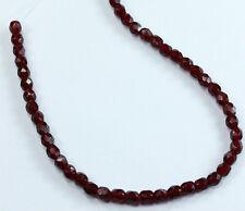 50 Garnet Czech Firepolish Faceted Round Glass Beads 3mm