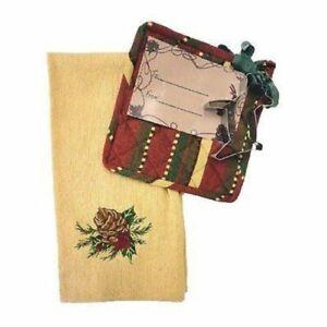 Christmas Gift Set Dishtowel, Potholder and Reindeer Cookie Cutter