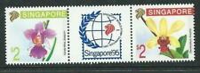 Singapore 1991 S'pore 95' ORCHIDS SERIES (1st Series) 2V strip MNH