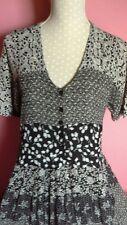 Vintage Nostalgie Noir et robe blanche Fit 14,16,18, Boho Hippy Gypsy
