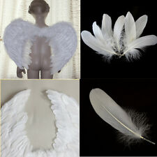 Pretty 50 pcs 6-8.6inch 15-22cm Natural Goose White Swan Feathers Home Decor USQ