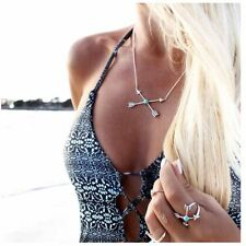 Cupid Arrow Stone Cross Clavicle Fashion Necklace Fashion Vintage Wholesale