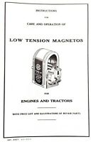IHC Low Tension Magnetos Manual & Parts List Farmall McCormick Hit N Miss Engine